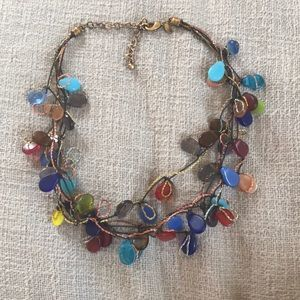 Chico's glass beaded necklace